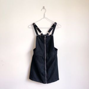 H&M Suede Overall Bib Dress